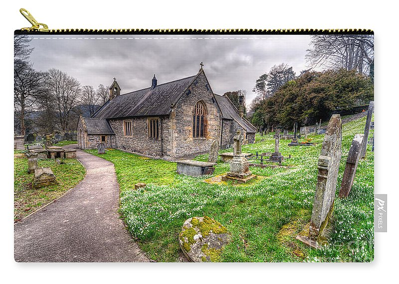 Architecture Carry-all Pouch featuring the photograph Llantysilio Church by Adrian Evans