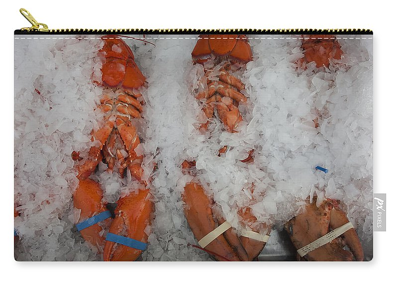 Essex Carry-all Pouch featuring the photograph Lobster At Woodman's by David Stone
