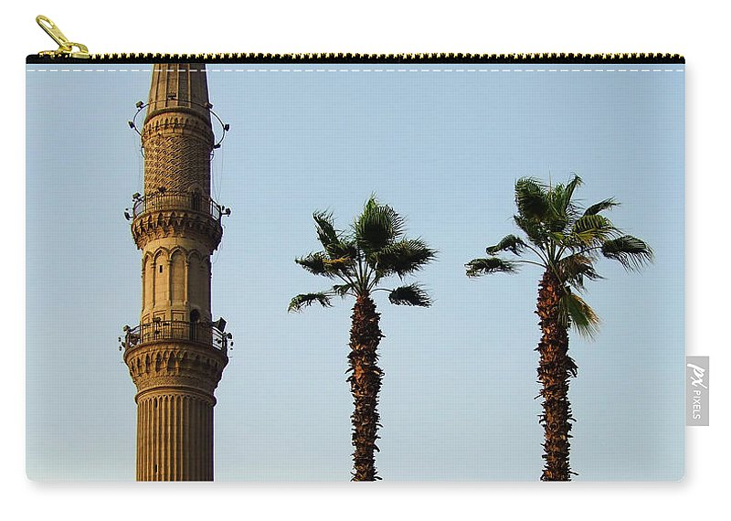 Egypt Carry-all Pouch featuring the photograph Local Cairo Mosque 02 by Antony McAulay