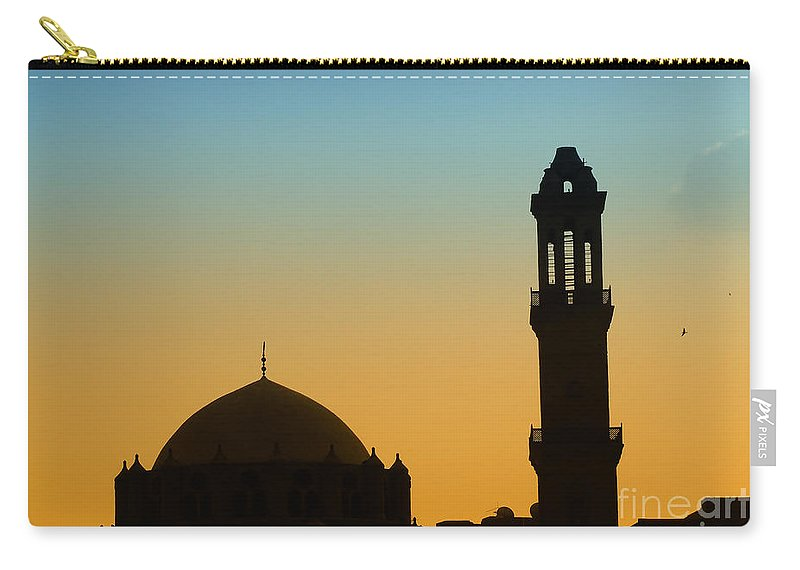Egypt Carry-all Pouch featuring the photograph Local Cairo Mosque 03 by Antony McAulay