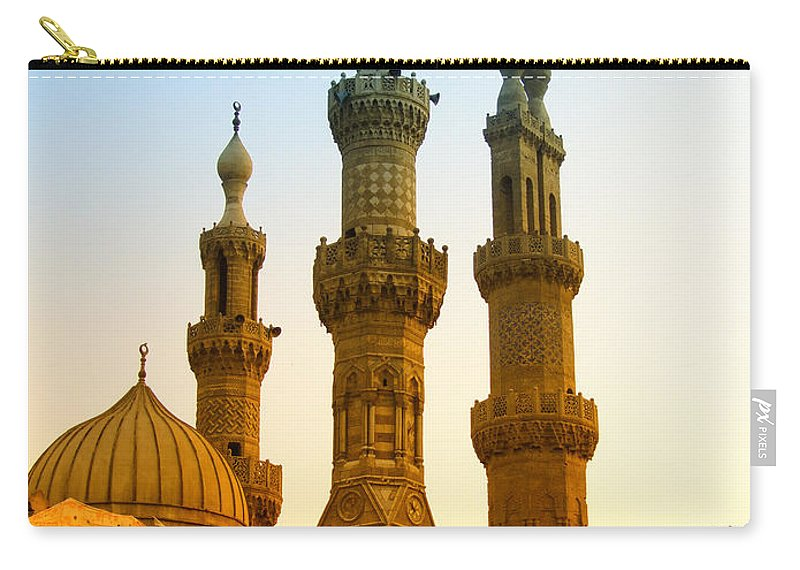 Egypt Carry-all Pouch featuring the photograph Local Cairo Mosque 05 by Antony McAulay