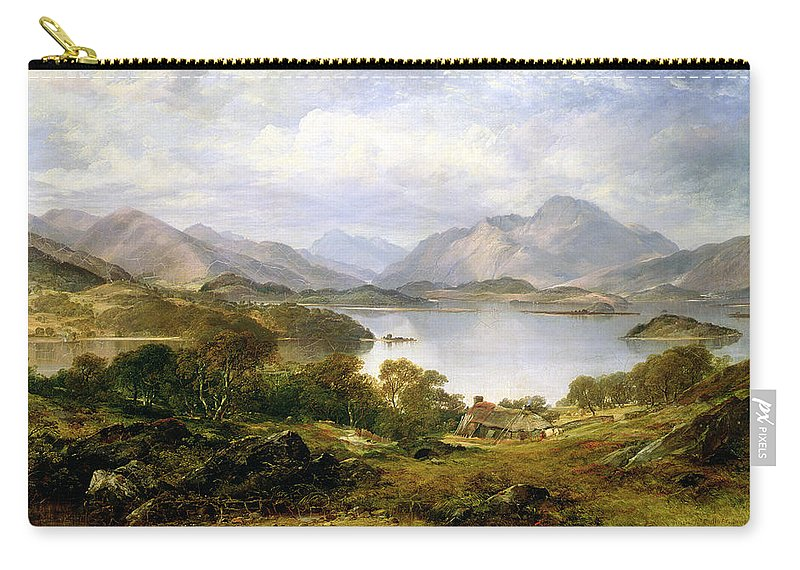 Lake Carry-all Pouch featuring the painting Loch Lomond, 1861 by Horatio McCulloch