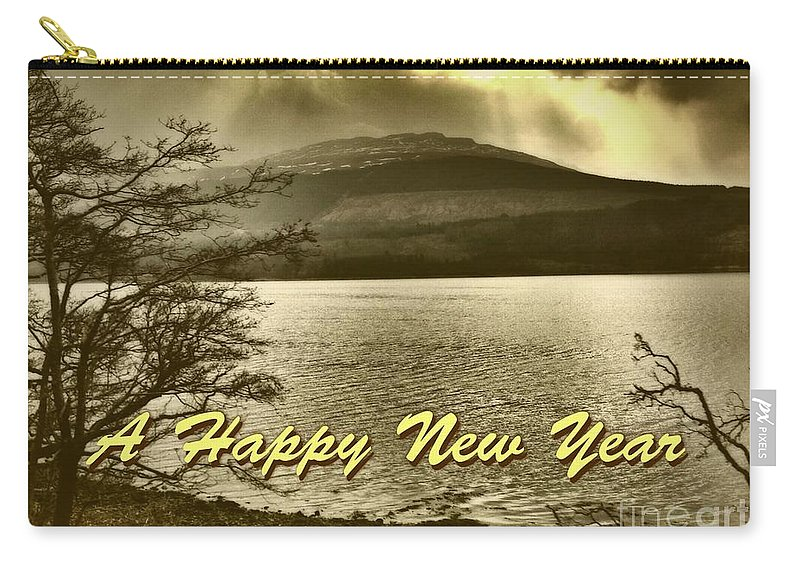 New Year Carry-all Pouch featuring the photograph Loch Lomond New Year Greeting by Joan-Violet Stretch