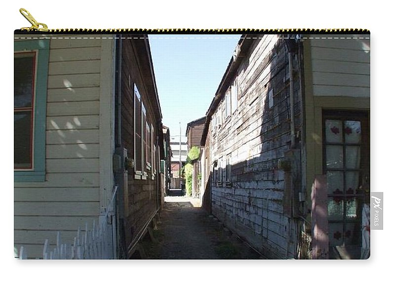 Alley Carry-all Pouch featuring the photograph Locke Chinatown Series - Back Alley - 6 by Mary Deal