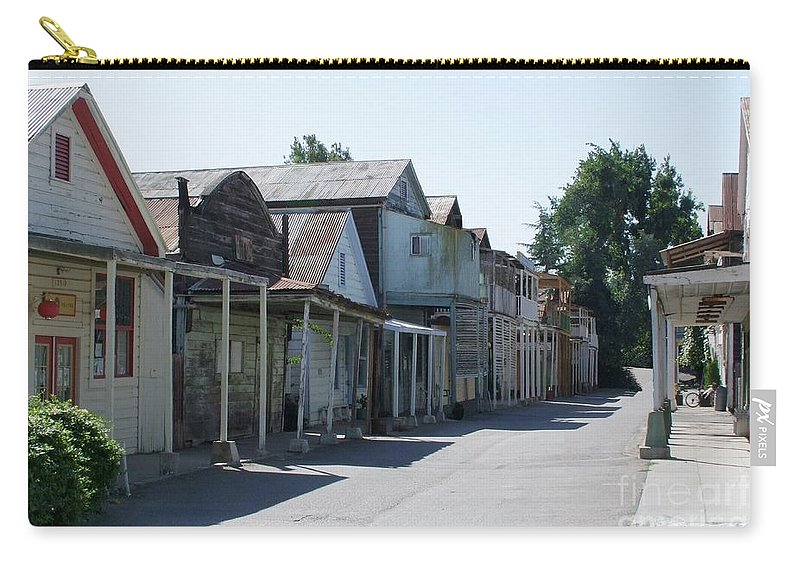 Landscapes Carry-all Pouch featuring the photograph Locke Chinatown Series - Main Street - 1 by Mary Deal