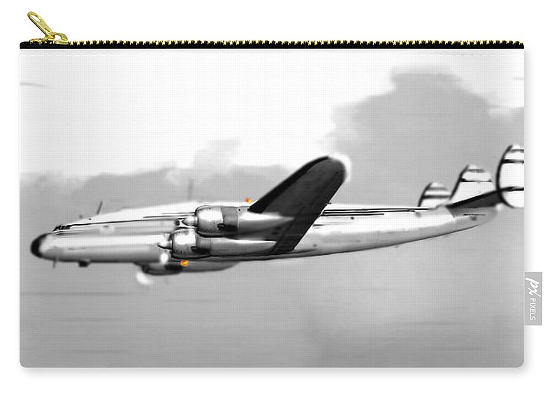 Constellation Carry-all Pouch featuring the digital art Lockheed Constellation by Marcello Cicchini