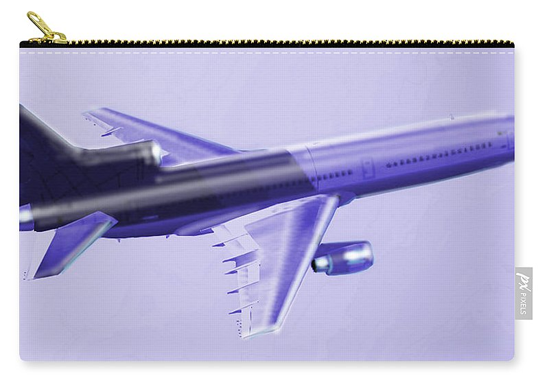 Lockheed Carry-all Pouch featuring the digital art Lockheed L-1011 Tristar 2 by Marcello Cicchini