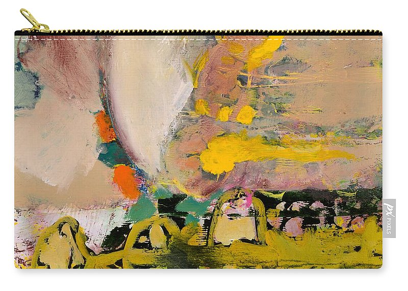 Landscape Carry-all Pouch featuring the painting Locomotion by Allan P Friedlander
