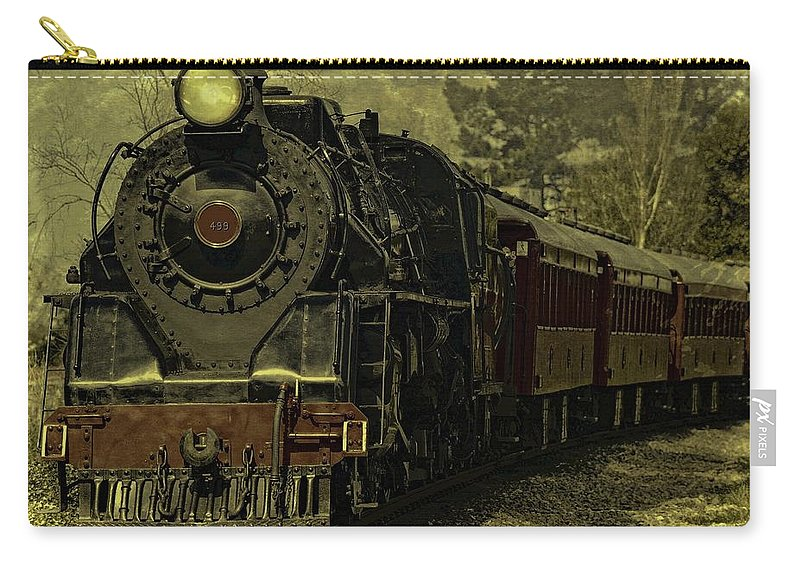 Locomotive Carry-all Pouch featuring the photograph Locomotive 499 by Movie Poster Prints
