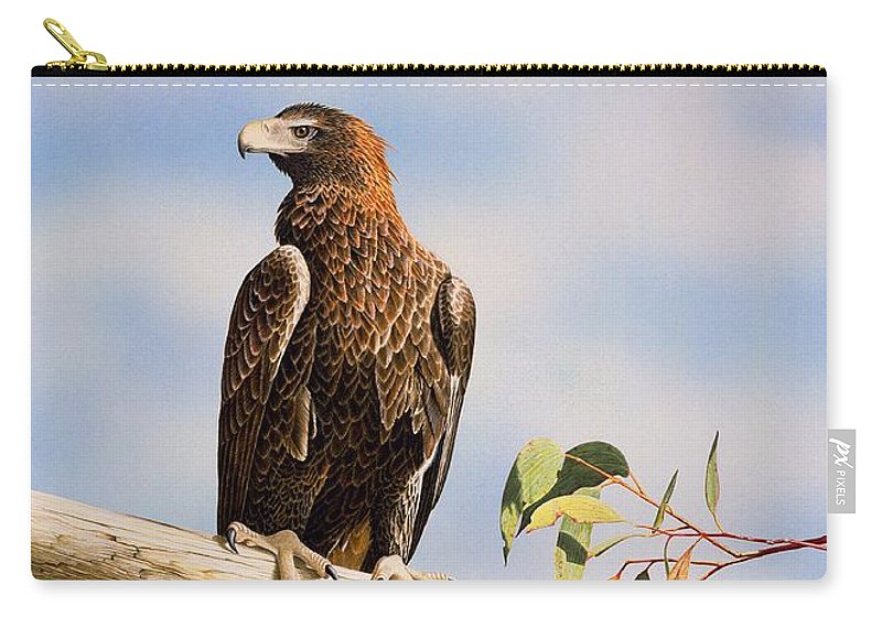 Gum Trees Carry-all Pouch featuring the painting Lofty Visions - Wedge-Tailed Eagle by Frances McMahon