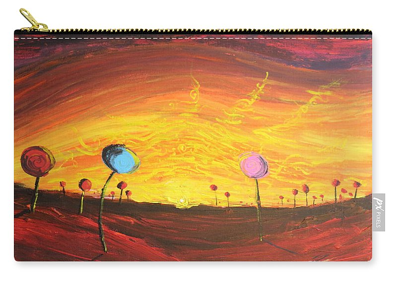 Fantasy Carry-all Pouch featuring the painting Lollipop Land by Stefan Duncan