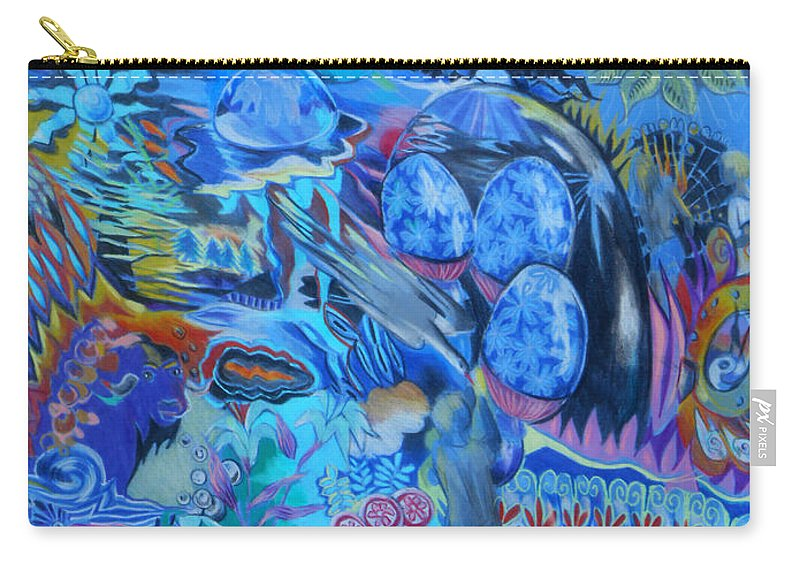 Fantasy Carry-all Pouch featuring the painting Lollipops by Lucia Hoogervorst