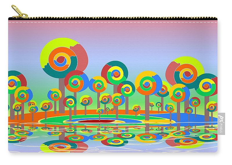 Malakhova Carry-all Pouch featuring the digital art Lollypop Island by Anastasiya Malakhova