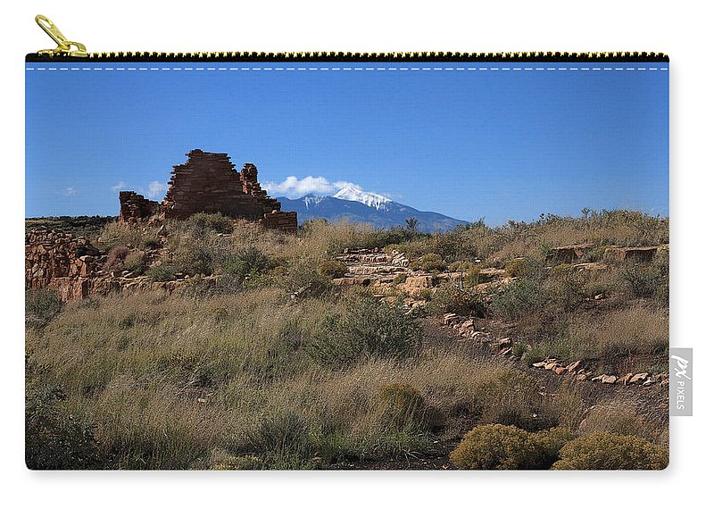 Ruins Carry-all Pouch featuring the photograph Lomaki by Joe Kozlowski