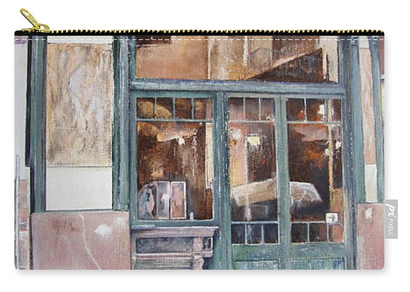 London Carry-all Pouch featuring the painting London bar-Barcelona by Tomas Castano