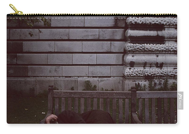 London Carry-all Pouch featuring the photograph London Bench by David Hohmann