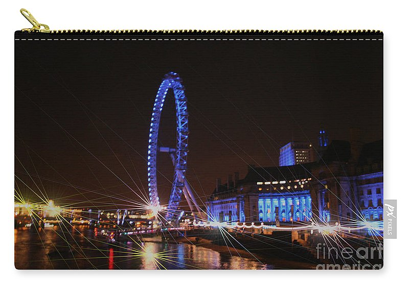 London Carry-all Pouch featuring the photograph London At Night by Doc Braham