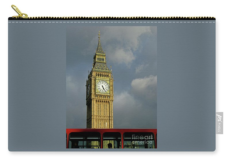 London Icons By Ann Horn Carry-all Pouch featuring the photograph London Icons by Ann Horn