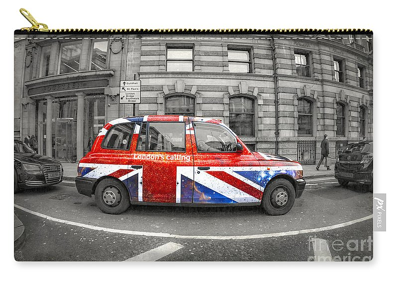 London Carry-all Pouch featuring the photograph London's Calling by Evelina Kremsdorf