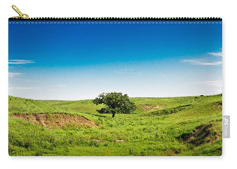 Tree Carry-all Pouch featuring the photograph Lone Green Tree by Eric Benjamin