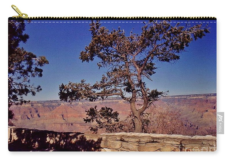 Lone Tree Along The South Rim Carry-all Pouch featuring the photograph Lone Tree Along The South Rim by John Malone