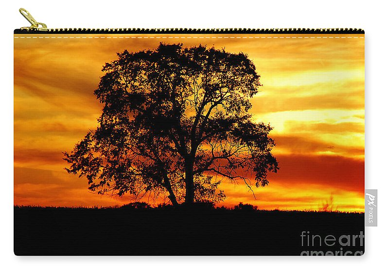 Tree Carry-all Pouch featuring the photograph Lone Tree by Mary Carol Story
