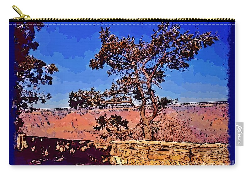 Lone Tree South Rim Carry-all Pouch featuring the photograph Lone Tree South Rim Poster by John Malone