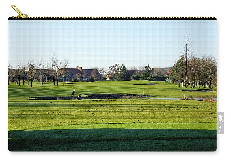 Golf Carry-all Pouch featuring the photograph Lonely Golfer by Ron Harpham