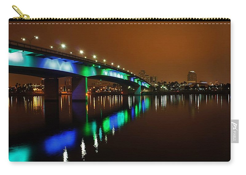 Long Beach Carry-all Pouch featuring the photograph Long Beach 2 by Jenny Hudson