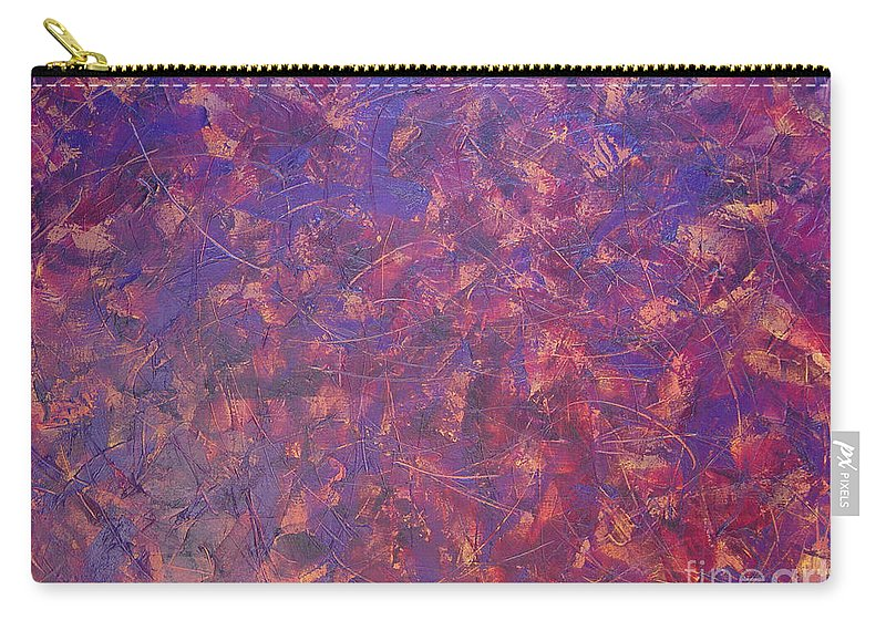 Abstract Carry-all Pouch featuring the painting Long Beach 5am by Dean Triolo