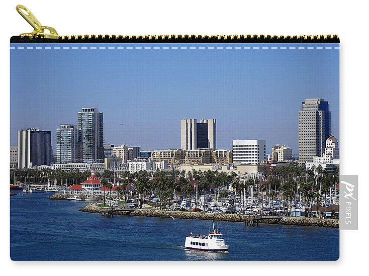 Ocean Carry-all Pouch featuring the photograph Long Beach by Athala Bruckner