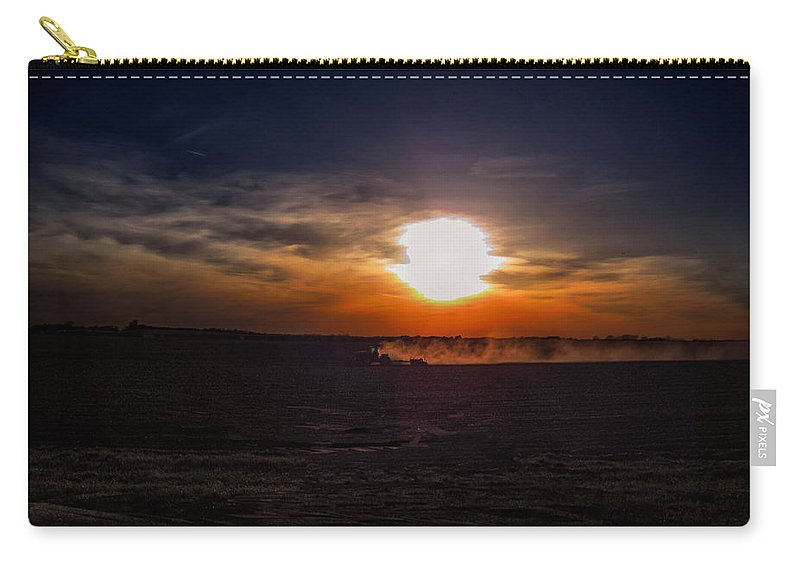 Farming Carry-all Pouch featuring the photograph Long Day In The Heartland by Tommy Anderson