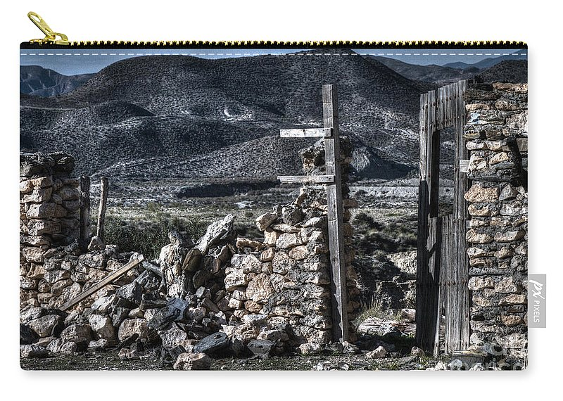 Ruin Carry-all Pouch featuring the photograph Long Gone Past by Heiko Koehrer-Wagner