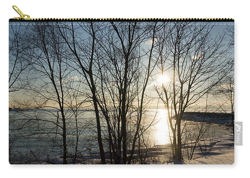 Long Shadows Carry-all Pouch featuring the photograph Long Shadows In The Snow by Georgia Mizuleva