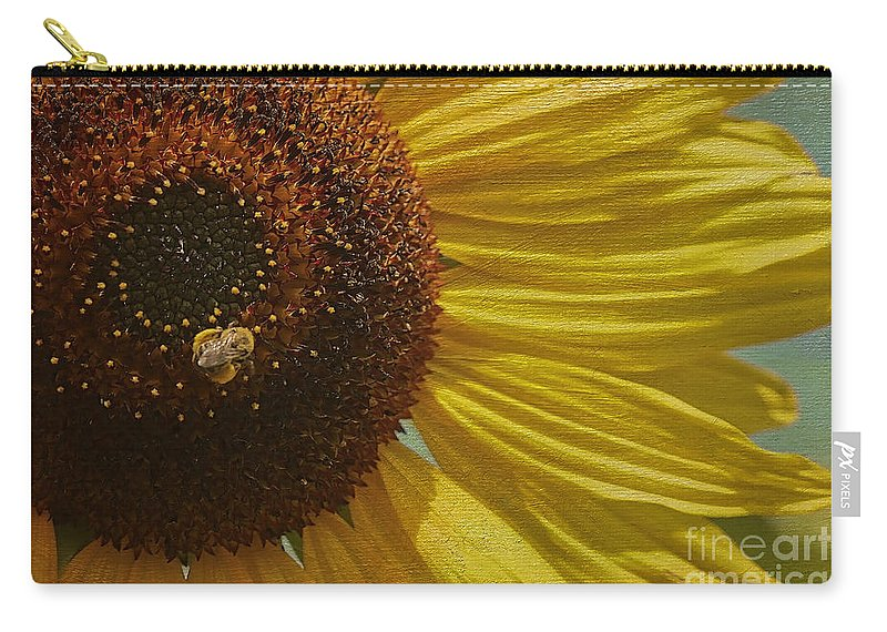 Sunflower Carry-all Pouch featuring the photograph Look At All This Food by Deborah Benoit