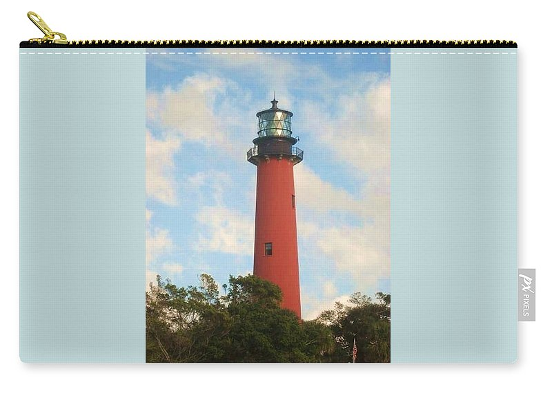 Jupiter Lighthouse Carry-all Pouch featuring the photograph Look Out by Catie Canetti