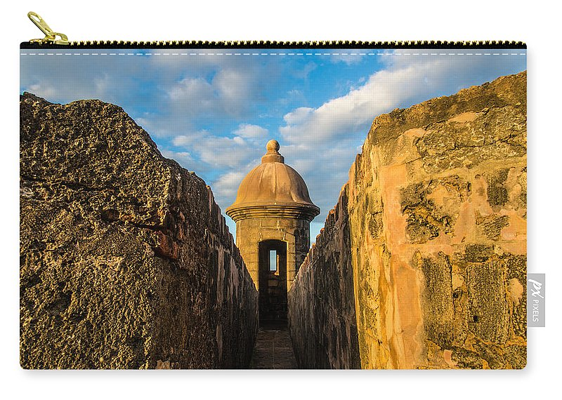 Puerto Rico Carry-all Pouch featuring the photograph Look Out by Kristopher Schoenleber