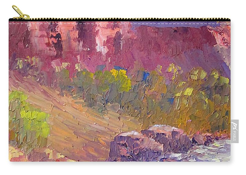 The Watchman Carry-all Pouch featuring the painting Look Up by Terry Chacon