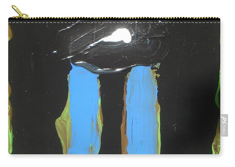 Abstract Carry-all Pouch featuring the painting Looker by Peter Nervo