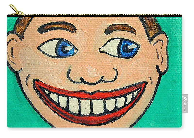 Tillie Carry-all Pouch featuring the painting Lookin right Tillie by Patricia Arroyo