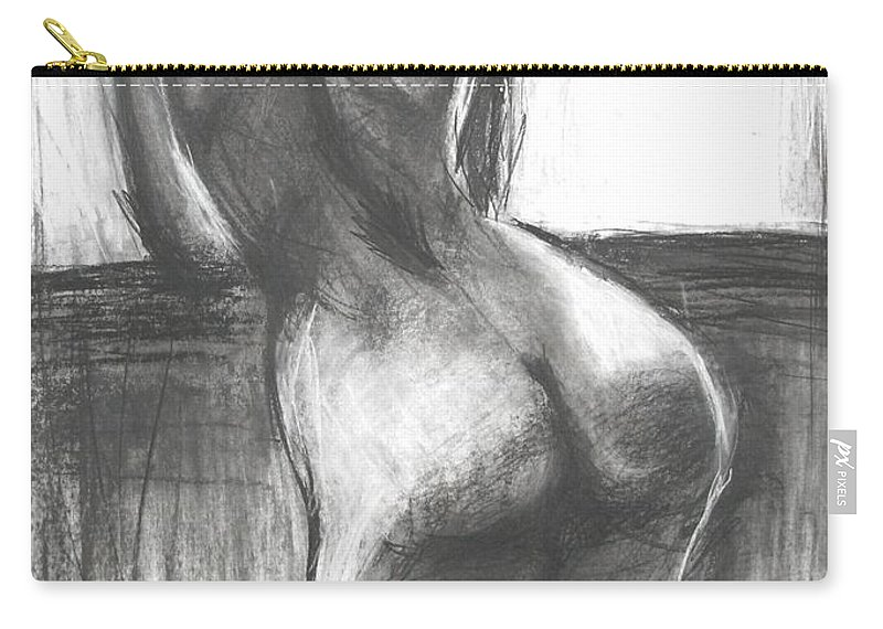 Looking Carry-all Pouch featuring the painting Looking Through The Window by Carmen Tyrrell