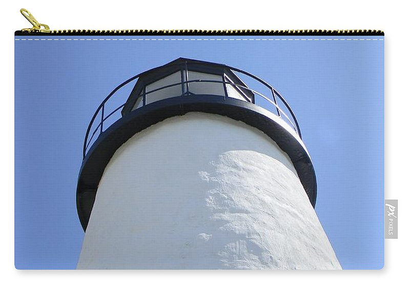 Lighthouse Carry-all Pouch featuring the photograph Looking Up by Jean Goodwin Brooks