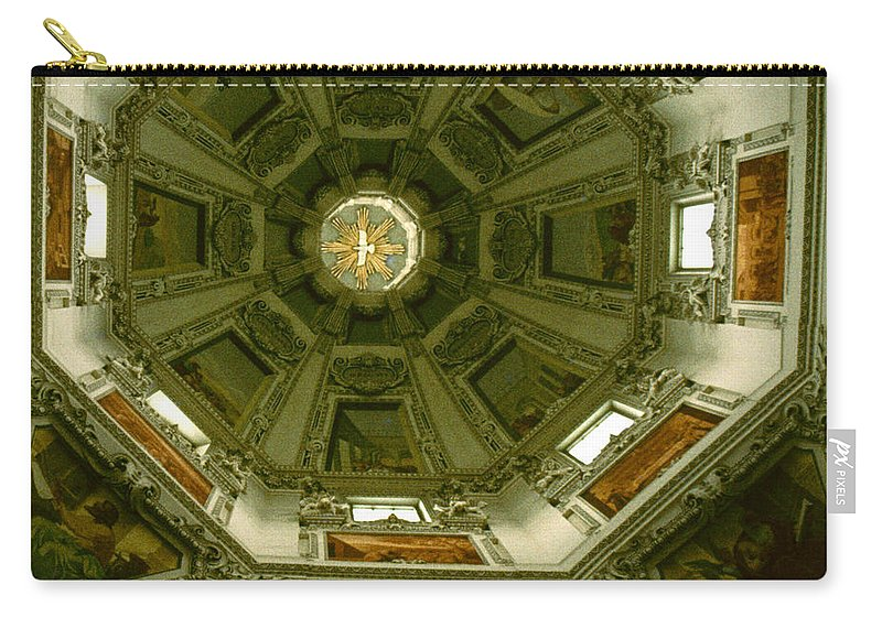Salsburg Carry-all Pouch featuring the photograph Looking Up Salzburg Cathedral 2 by David Hohmann