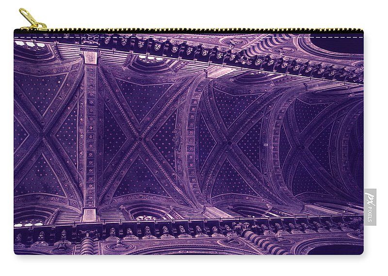 Looking Up Carry-all Pouch featuring the photograph Looking Up Siena Cathedral by David Hohmann