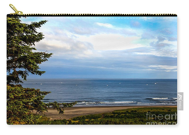 Boats Carry-all Pouch featuring the photograph Looking West At The Fishing Boats by Robert Bales