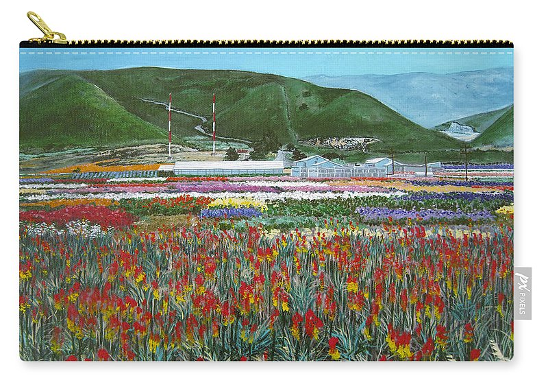 Flowers Carry-all Pouch featuring the painting Lookout Point by Angie Hamlin