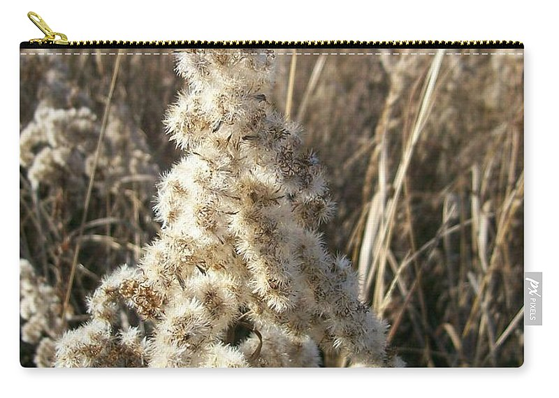 Weed Carry-all Pouch featuring the photograph Looks Like Cotton by Sara Raber