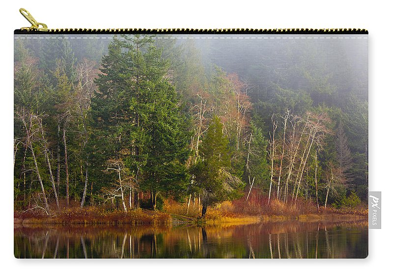 Lake Carry-all Pouch featuring the photograph Loon Lake by Randy Hall