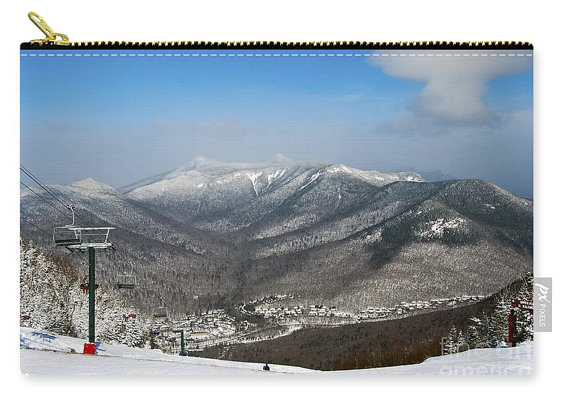 Loon Mountain Carry-all Pouch featuring the photograph Loon Mountain Ski Resort White Mountains Lincoln Nh by Glenn Gordon