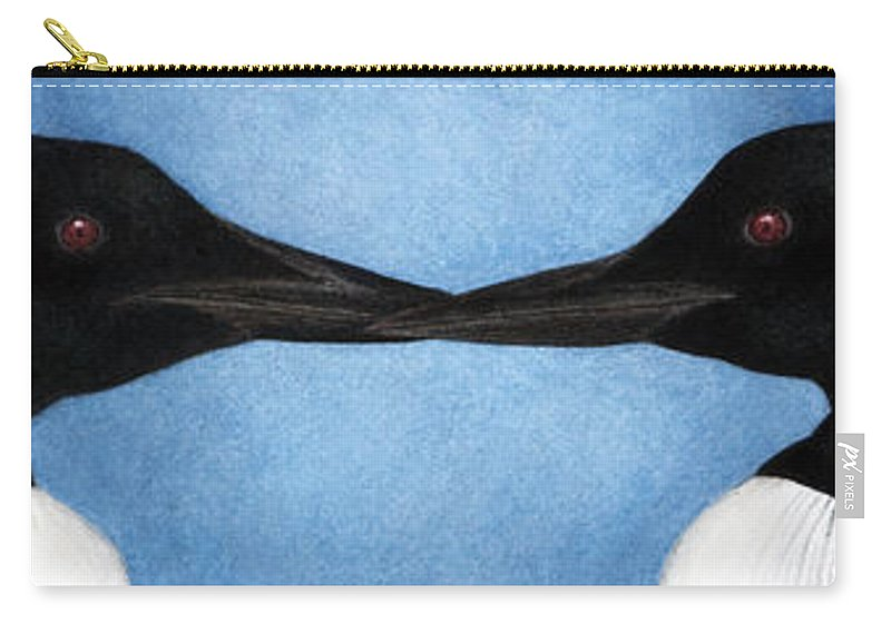 Loons Carry-all Pouch featuring the painting Loons by Pat Erickson